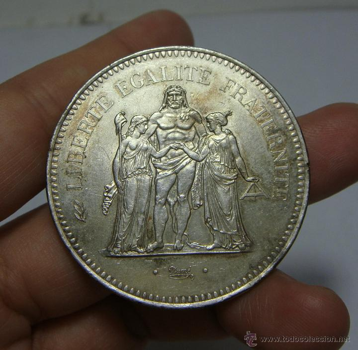 Monedas antiguas de Europa: 50 Francs - 50 Francos. Plata. Francia - 1976 - Foto 2 - 47849148