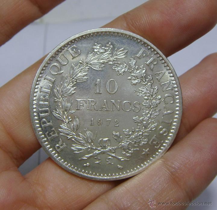 Monedas antiguas de Europa: 10 Francs - 10 Francos. Plata. Francia - 1972 - Foto 2 - 47854127