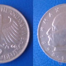 Monedas antiguas de Europa: MONEDA DE 2 MARCOS ALEMANIA 1966 LETRA F MAX PLANCK 1858 - 1947 DIFICIL DE CONSEGUIR AÑO Y CECA. Lote 58238447