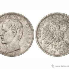 Monedas antiguas de Europa: 5 MARCOS OTTO BAVIERA 1908-D. Lote 48314631