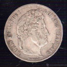 Monedas antiguas de Europa: LOUIS PHILIPPE I. 5 FRANCOS. 1832. PLATA. Lote 48376459