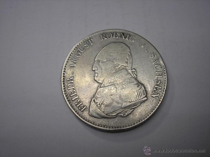 THALER DE PLATA DE 1823 SAJONIA , ALEMANIA (Numismática - Extranjeras - Europa)