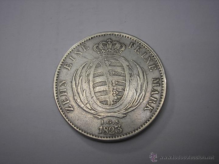 Monedas antiguas de Europa: THALER DE PLATA DE 1823 SAJONIA , ALEMANIA - Foto 2 - 48500187