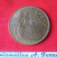 Monedas antiguas de Europa: GRAN BRETAÑA.1 PENNY DE ISABEL II. 1967. Lote 48558290