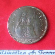 Monedas antiguas de Europa: GRAN BRETAÑA.1 PENNY DE ISABEL II. 1964. Lote 48558434