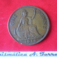 Monedas antiguas de Europa: GRAN BRETAÑA. 1 PENNY DE JORGE VI. 1944. Lote 48559674