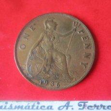 Monedas antiguas de Europa: GRAN BRETAÑA. 1 PENNY DE JORGE V. 1936. Lote 48560002