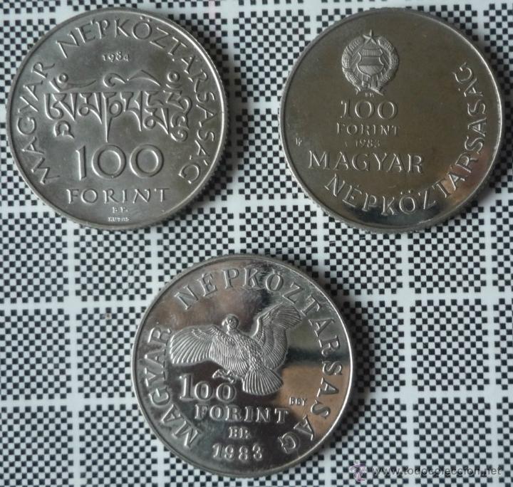 Tres Monedas De Copper Nickel De 100 Forint De Comprar Monedas