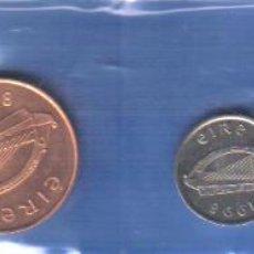 Monedas antiguas de Europa: IRLANDA - EIRE TIRA DE MONEDAS SIN CIRCULAR- ORIGINALE- FAUNA TORO- AVES- MUSICA ARPA. Lote 48713942