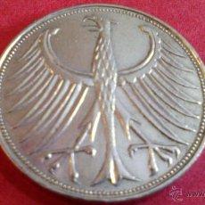 Monedas antiguas de Europa: ALEMANIA, 5 MARCOS DE PLATA, 1951 D. Lote 49057761