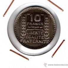 Monedas antiguas de Europa: FRANCIA : 10 FRANCS 1948 ( P.TURIN ) EBC . Lote 49162454