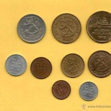 Monedas antiguas de Europa: MM. LOTE SERIE 9 MONEDAS FINLANDIA. SUOMI. FINLAND. SUOMEN TASAVALTA. TODAS DIFERENTES. VER FOTOS.. Lote 49305910
