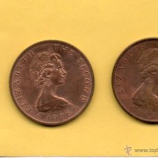 Monedas antiguas de Europa: MM. LOTE 2 MONEDAS ISLA DE MAN. ISLE OF MAN. 2 PENIQUES. TWO PENCE. ELISABETH II. 1975. 1976. FOTOS.. Lote 49329057