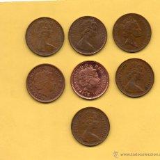 Monedas antiguas de Europa: MM. LOTE 7 MONEDAS 2 PENIQUES TWO PENCE INGLATERRA GRAN BRETAÑA REINO UNIDO DIFERENTES AÑOS. FOTOS. Lote 49329157
