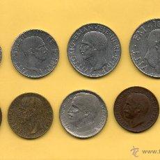Monedas antiguas de Europa: MM. LOTE 9 MONEDAS ITALIA VITTORIO EMANUELE III EMANVELE DIFERENTES VALORES. OFERTA !!. VER FOTOS. Lote 49334833