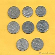 Monedas antiguas de Europa: MM. LOTE 8 MONEDAS ITALIANAS, ITALIA, 5 Y 10 LIRAS. AÑOS DIVERSOS. VER FOTOGRAFIAS.. Lote 49335315