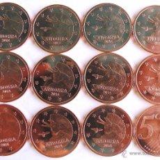 Monedas antiguas de Europa: LOTE DE 12 MONEDAS DE 5 CTMS DE ANDORRA DE 2014. Lote 192982510