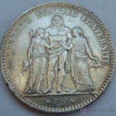 Monedas antiguas de Europa: 5 FRANCOS FRANCESES DE 1876 HERCULES, DE PLATA FRANCIA. Lote 49743150