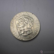 Monedas antiguas de Europa: 10 CORONAS DE PLATA DE 1966. CHECOESLOVAQUIA, PERIODO COMUNISTA. Lote 49756063