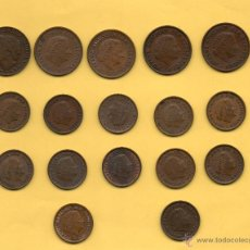 Monedas antiguas de Europa: MM. LOTE 17 MONEDAS HOLANDA NEDERLANDEN 5 DE 5 CENTIMOS Y 12 DE 1 CENTIMO DIFERENTES AÑOS Y REINA . Lote 49791297