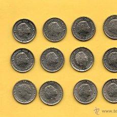 Monedas antiguas de Europa: MM. LOTE 12 MONEDAS 10 CENT CENTIMOS FLORIN HOLANDA NEDERLANDEN AÑOS Y REINA DIFERENTES. FOTOS. Lote 49791350
