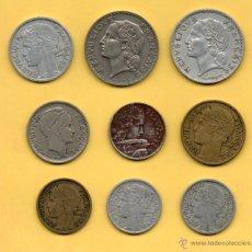 Monedas antiguas de Europa: MM. LOTE 9 MONEDAS REPUBLIQUE FRANÇAISE FRANCE FRANCIA AÑOS 1930 1940 1950 TODAS DIFERENTES VER FOTO. Lote 50027246