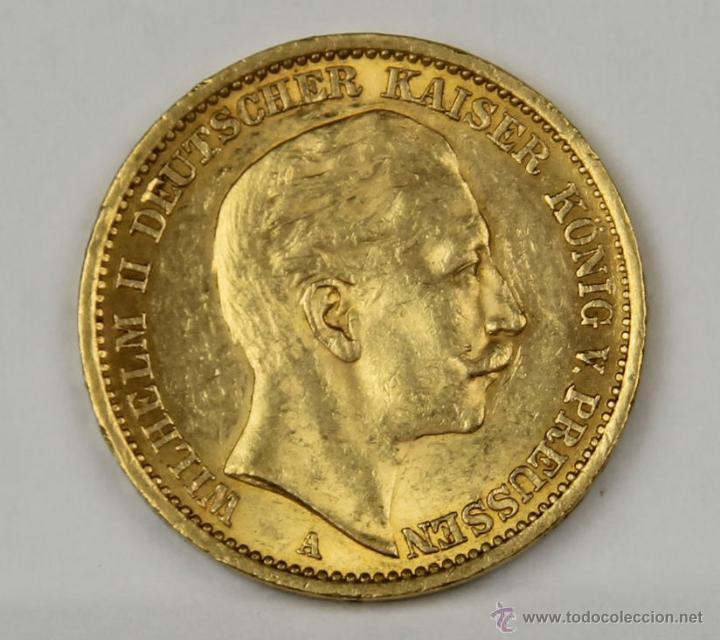 Mo 004 Moneda De Oro Wilhelm Ii Dutscher Kais Comprar Monedas