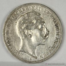 Monedas antiguas de Europa: MO-016. MONEDA DE PLATA. WILHELM II DEUTSCHER KAISER V. PREUSSEN. 1912. TRES MARCOS.. Lote 50321897