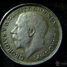 Monedas antiguas de Europa: MONEDA DE PLATA DE TRES PENIQUES DE GEORGE V DE 1919. Lote 50361336