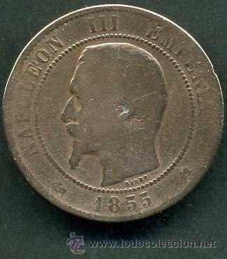 Francia 10 Cent Año 1855 K Emperador Napoleon Comprar Monedas