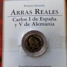 Monedas antiguas de Europa: ARRAS REALES CARLOS I PLATA BAÑADA EN ORO. Lote 50861987