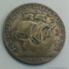 Monedas antiguas de Europa: PORTUGAL - MONEDA 2,5 ESCUDOS PORTUGUESES - AÑO 1944 - *** PLATA ***. Lote 92783752