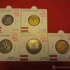 Monedas antiguas de Europa: AUSTRIA - 5 MONEDAS PROOF - 1997. Lote 51115855