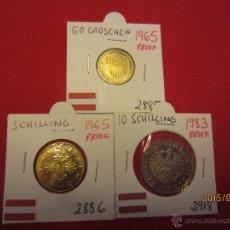 Monedas antiguas de Europa: AUSTRIA - 3 MONEDAS PROOF . Lote 51115877