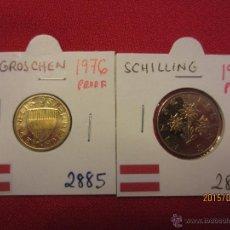 Monedas antiguas de Europa: AUSTRIA - 2 MONEDAS PROOF - 1976. Lote 51115895