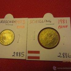 Monedas antiguas de Europa: AUSTRIA - 2 MONEDAS PROOF - 1973-1981. Lote 51115937