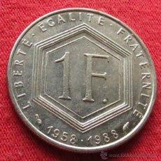 Monedas antiguas de Europa: FRANCIA 1 FR. 1988 DE GAULLE. Lote 89100579