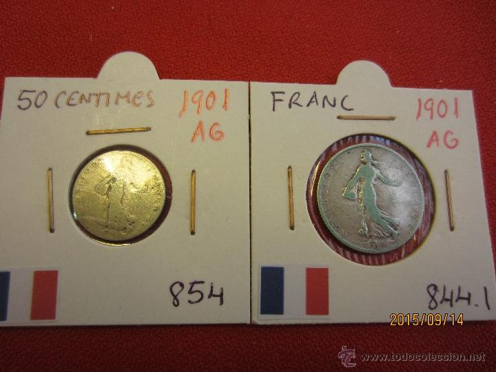 FRANCIA - 50 CENTIMES , FRANC 1901 PLATA MBC (Numismática - Extranjeras - Europa)