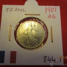Monedas antiguas de Europa: FRANCIA - FRANC 1901 KM844.1 PLATA MBC. Lote 51237424