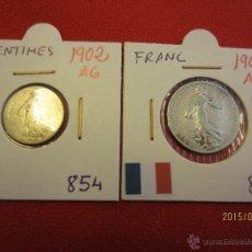 Monedas antiguas de Europa: FRANCIA - 50 CENTIMES , FRANC 1902 PLATA BC+ - MBC. Lote 51237490
