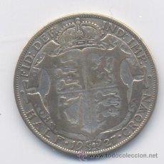 Monedas antiguas de Europa: INGLATERRA/GRAN BRETANIA-1/2 CORONA-1927-JORGE V-PLATA. Lote 51256685