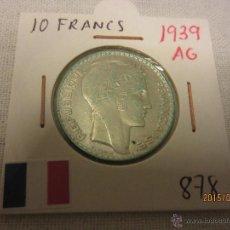 Monete antiche di Europa: FRANCIA - 10 FRANCS 1939 KM878 PLATA MBC. Lote 51500085