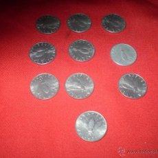 Monedas antiguas de Europa: LOTE DE 10 MONEDAS REPUBLICA ITALIANAS. Lote 51542802