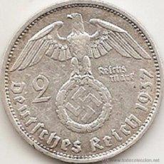 Monedas antiguas de Europa: ALEMANIA 1937. 2 MARCOS DE PLATA DEL III REICH. PAUL VON HINDENBURG. 1937 F. Lote 51577217