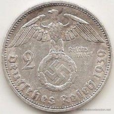 Monedas antiguas de Europa: ALEMANIA 1939. 2 MARCOS DE PLATA DEL III REICH. PAUL VON HINDENBURG. 1939 F. Lote 51577514