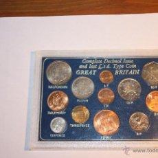 Monedas antiguas de Europa: REINO UNIDO ESTUCHE 12 MONEDAS DESPEDIDA SISTEMA MONEDAS ANTIGUO. Lote 51648117