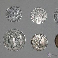 Monedas antiguas de Europa: MONEDAS FRANCESAS. 1 FRANCO 1943 DEL ETAT FRANÇAIS. OTRAS DE 1945, '47, '49, '55 '75. Lote 51664718