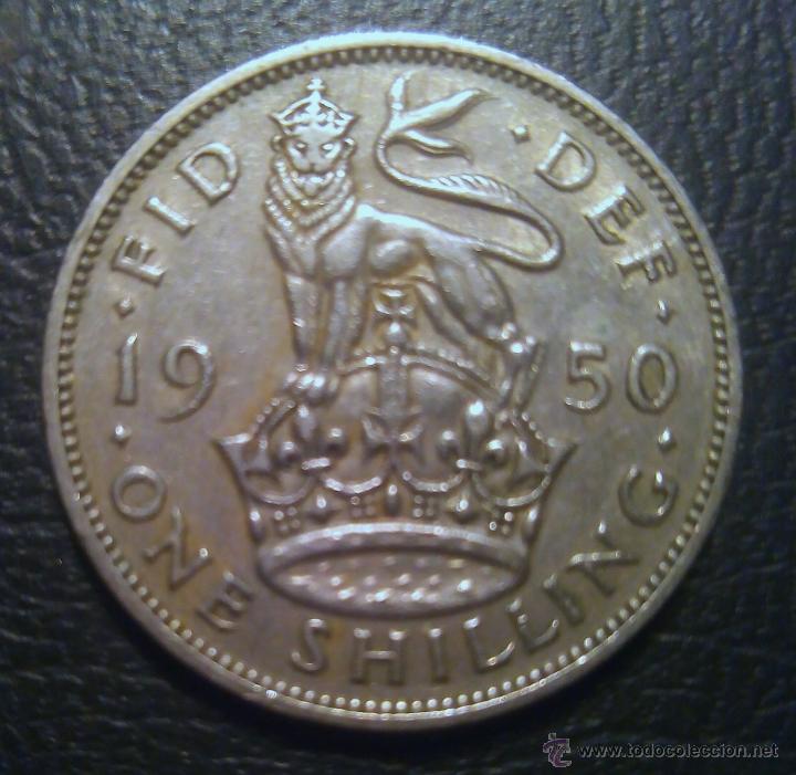 Monedas antiguas de Europa: Un chelín 1950 George VI - Foto 2 - 51701097
