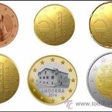 Monedas antiguas de Europa: FULL EURO SET- ANDORRA/ANDORRE FULL COMPLET-COIN EUROMÜNZEN MONNAIES MONETE -UNCIRCULATED-8 MONNAIES. Lote 222268318