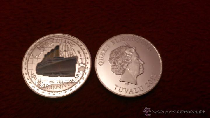 MONEDA DEL TITANIC 1 OZ 2012 DE PLATA 999. (Numismática - Extranjeras - Europa)